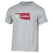 514972819 Men s Russell Heathered Gray Oklahoma Sooners Inner-State T-Shirt