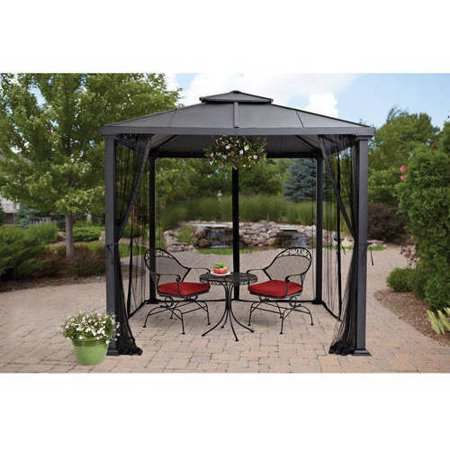 Bhg Sullivan Ridge 8 Ft Hard Top Outdoor Gazebo Walmartcom