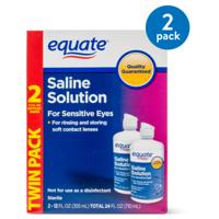(2 Pack) Equate Saline Solution For Sensitive Eyes, 12 Oz, 2 Pk