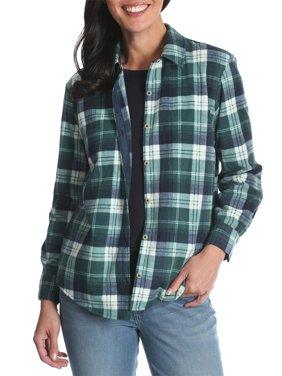 Lee Riders Women's Long Sleeve Knit Fleece Shirt