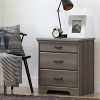 South Shore Versa Nightstand with Charging Station and Drawers, Multiple Finishes
