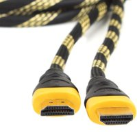 High-Speed Ruggedized 1080P HDMI Cable with 3D , Ethernet Support & Gold Plated Tips ( 6-foot ) for Apple TV , LG Infinia , Panasonic Viera , Vizio , Samsung and more LED , Plasma , LCD & DLP HDTV - b