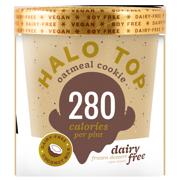 Halo Top Dairy Free Frozen Dessert Oatmeal Cookie, 1.0 PT