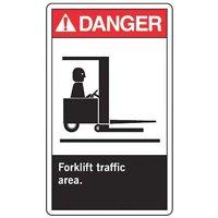ACCUFORM Forklift Traffic Sign,10 x 7In,ENG,SURF, MVHR018VS