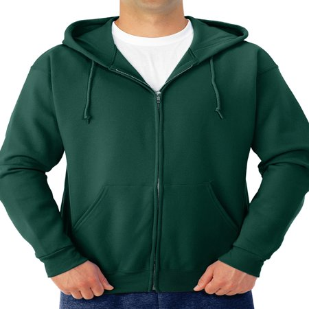 - Men's Soft Medium-Weight Fleece Full Zip Hooded Jacket