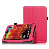 """Fintie Premium PU Leather Folio Case Stand Cover for RCA 7"""" Tablet / RCA Voyager II 7"""" Tablet WIFI Android, Magenta"""