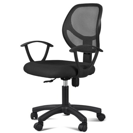 Chairs Seating Seat House Office (Adjustable Swivel Computer Desk Chair Fabric Mesh Office Chair with Arms Seating Back Rest,Black )