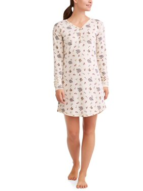 Product Image Women s and Women s Plus Printed Sleep Shirt Brushed Hacci 393faa802b63