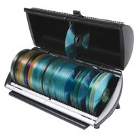 CD or DVD 100 Disc Media Storage Organizer Box with Indexed Selector