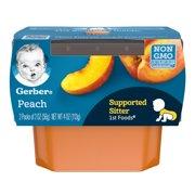 Gerber 1st Foods Peach Baby Food, 2-2 oz. Tubs
