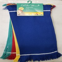 The Pioneer Woman Fringe Dish Cloths, Multi, Set of 4, Multiple Colors and Counts