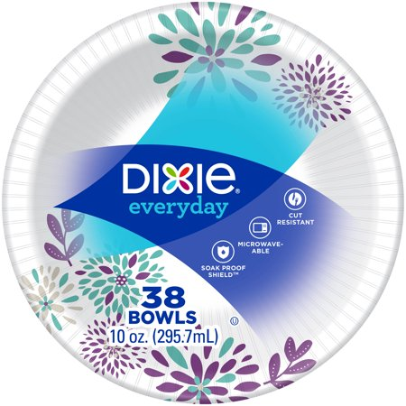 10 Ounce Dessert Bowl (Dixie Everyday Paper Bowls, 10 oz, 38 Count )