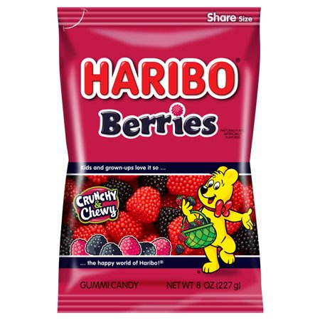 Haribo Berries Gummi Candies, 8 Oz.