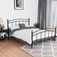 "Costway 12"" Full Size Metal Bed Frame Platform Metal Slat Support Headboard Footboard"