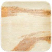 """Leaf & Fiber Square Palm Leaf Dinner Plates, 10"""", 100 Count"""