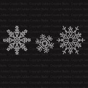 Frozen Snowflakes Iron On Rhinestone Crystal Transfer by Jubilee Rhinestones 392e668d7046