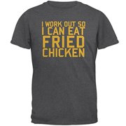 a45efd3676 Work Out Eat Fried Chicken Mens T Shirt