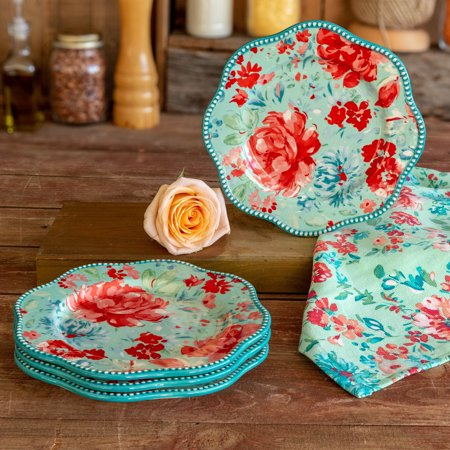 The Pioneer Woman Gorgeous Garden Salad Plates, set of 4