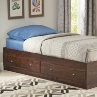 Better Homes & Gardens Leighton Mates Kids' Twin Storage Bed, Rustic Cherry Finish