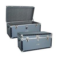 "Mercury Luggage Seward Trunk Stackable Storage Footlocker, 31"""