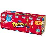 Danimals Smoothie Strawberry Explosion/Cotton Candy 3.1 fl. Oz., 12 Count