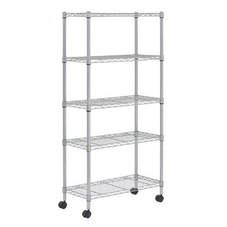 Sandusky Cabinets Mobile 5 Shelf Wire Shelving - Walmart.com