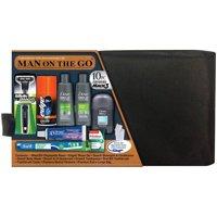 Convenience Kits International Original Men's Premium 10 Piece Travel Kit, TSA Compliant, in Reusable Black ZipperedToiletry Bag w/ Handle Featuring: Mach 3 Disposable Razor