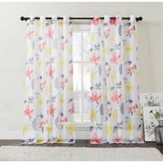 Discontinued Vcny Home Fl Serena Sheer Grommet Top Window Curtains