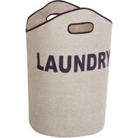 Honey Can Do Open Laundry Hamper with Sturdy Foam Interior, Multicolor