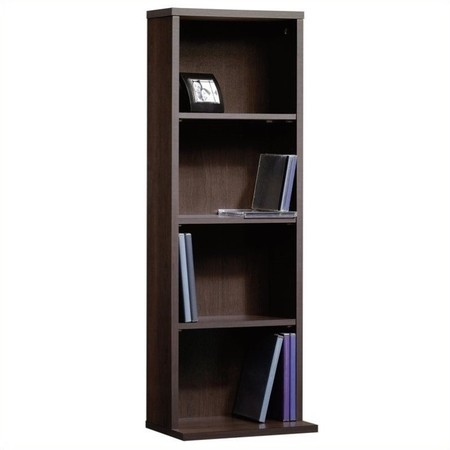 Sauder Beginnings Multimedia Storage Tower, Cinnamon Cherry Finish