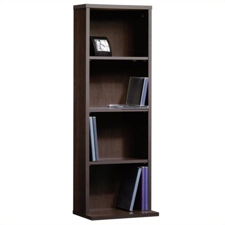 - Sauder Beginnings Multimedia Storage Tower, Cinnamon Cherry Finish