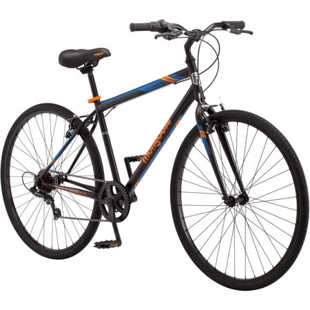 700C Mongoose Hotshot Men's Bike, Black / Orange