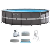 """Intex 18' x 52"""" Ultra Frame Above Ground Swimming Pool Set with Sand Filter Pump"""