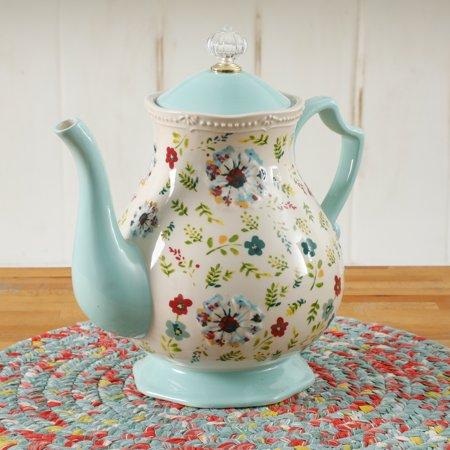 The Pioneer Woman Kari 2.4 Quart Tea Pot (Glass Teapot Tea Light)