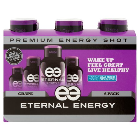(12 Bottles) Eternal Energy Shot, Grape, 1.93 Fl Oz - Halloween Themed Shots Drinks