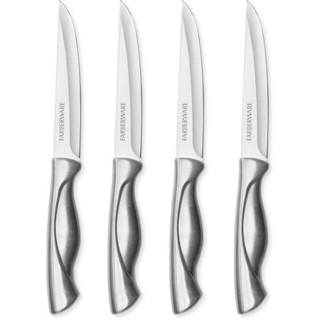- Farberware Four Piece Stainless Steel Steak Knife Set