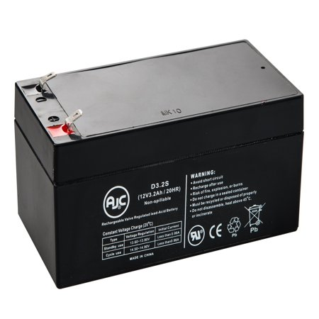 Vision CP1232, CP 1232 12V 3.2Ah UPS Battery - This is an AJC Brand Replacement ()