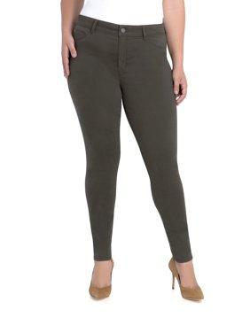 Jordache Women's Plus Mid Rise Skinny Jean