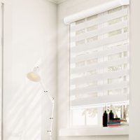 Chicology Free-Stop Cordless Zebra Roller Shades, Dual Layer Combi Window Blind (Dual Layer & Privacy)