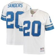 Men s Mitchell   Ness Barry Sanders White Detroit Lions Replica Retired  Player Jersey 0d1155d6a