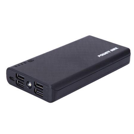 POWERNEWS 4 USB 900000mAh Power Bank LED External Backup Battery Charger F
