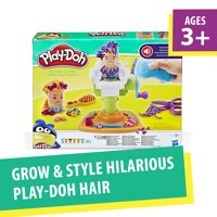 Play-Doh Buzz 'N Cut Fuzzy Pumper Barber Shop Set with Electric Buzzer, 5 Cans of Play-Doh & 5+ Tools