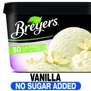 Breyers No Sugar Added Vanilla Frozen Dairy Dessert, 48 oz