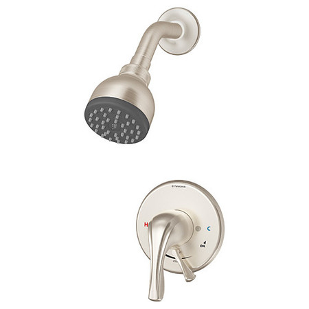 Origins Single Handle Shower Faucet with Integral Volume Control in Satin Nickel