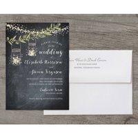 Twinkling Jars Deluxe Wedding Invitation