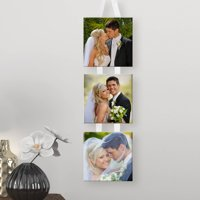 Personalized 3 Photo Hanging Canvas