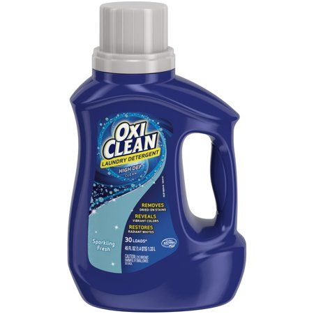 OxiClean Liquid Laundry Detergent, Sparkling Fresh Scent, 45