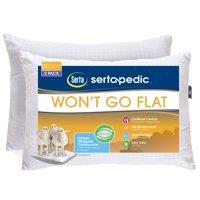 Sertapedic Won't Go Flat Pillows, Set of 2