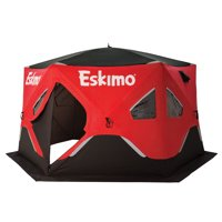 Eskimo FatFish 6120i Insulated 5-7 Person Pop Up Ice Fishing Shanty Shelter Hut