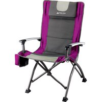 Ozark Trail Folding High Back Chair with Head Rest, Fuchsia